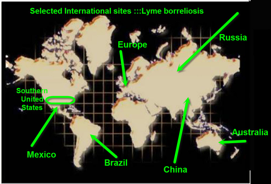 map of world annotated for lecture